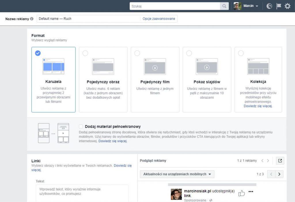 czwarta zasada skutecznej reklamy naFacebooku - kreacja reklamowa